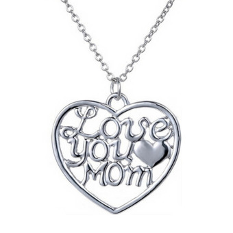 Harga Hequ Mother's Day Gifts Fashion Love Mother Pendant Necklaces