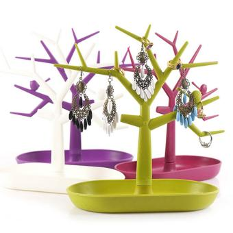 Cocotina New Display Display Rack Holder Organizer Jewelry Necklace Ring Earring Tree Stand - White - intl - 2