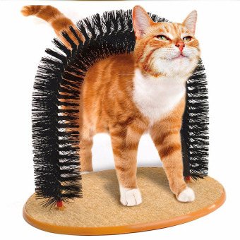 Harga Alpha Living Hot Pet Cat Toy Plastic Scratch Bristles Purrfect ArchSelf-Groomer and Massager (OVERSEAS) - intl