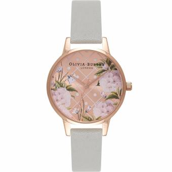 Harga Olivia Burton Dot Design Floral Grey & Rose Gold Watch OB15EG44