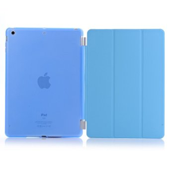 Harga Welink Detachable Tablet Smart Cover + Slim Transparent Back Case for Apple iPad Mini 4 (Blue) (Intl)