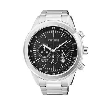 Harga Citizen Watch Chronograph Silver Stainless-Steel Case Stainless-Steel Bracelet Mens Japan NWT + Warranty AN8150-56E