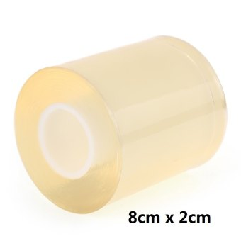 Harga 8CM x 2CM Surface Protective Tape Transparent Dust Proof Film for Watch