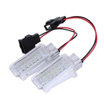 Harga 2pcs White CANbus 18 LED Door Courtesy Lights Lamps For Audi A3 A4 A5 A6 - intl