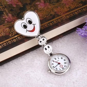 Harga Pocket Alloy Smile Face Clip Pin Nurse Fob Watch Quartz Brooch Pendant - intl