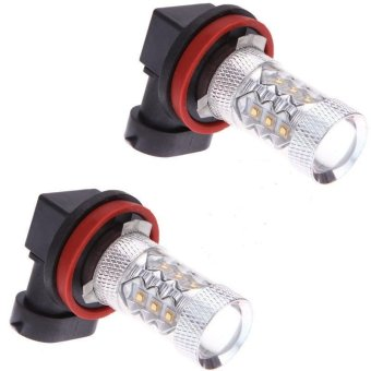 Harga 2Pcs H11 80W CREE LED Fog Light Tail Bulb Driving Car HeadLight Lamp 6000K(White) (EXPORT)