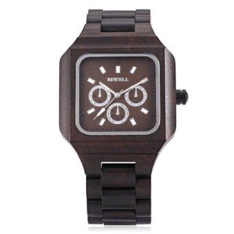 Bewell ZS - W001A Male Wooden Quartz Watch Luminous Decorative Sub-dial Japan Movt Wristwatch - intl - 2