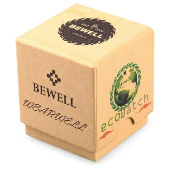 Bewell ZS - W001A Male Wooden Quartz Watch Luminous Decorative Sub-dial Japan Movt Wristwatch - intl - 5
