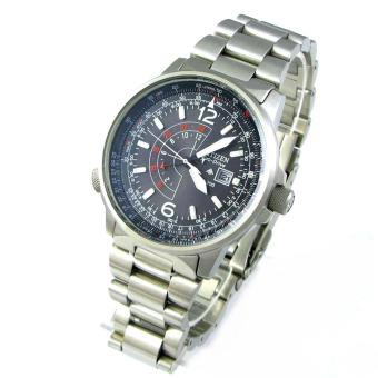 Harga Citizen Watch Eco-Drive Promaster NightHawk Silver Stainless-Steel Case Stainless-Steel Bracelet Mens Japan NWT + Warranty BJ7010-59E