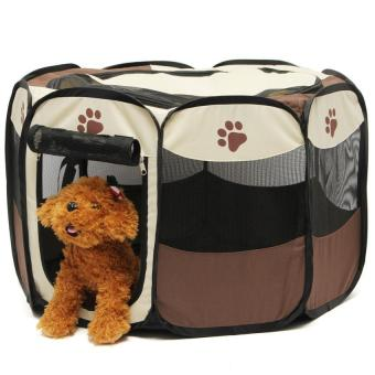 Harga Pet Home Fence Dog Bed Kennel Play Pen Puppy Soft PlaypenExerciseRun Cage Folding Crate