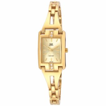 Harga Q&Q By Citizen ELEGANT Gold Stainless Steel Ladies Watch GT77-010YGT77-010Y