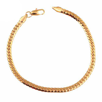 Harga Amart Women Ladies Gold Plating Hand Chain Elegant Snake Link Bracelet (EXPORT)