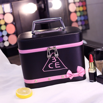 Harga 3ce cosmetic bag with diamond bow storage bag large capacity portable wash bag waterproof portable travel cosmetic case