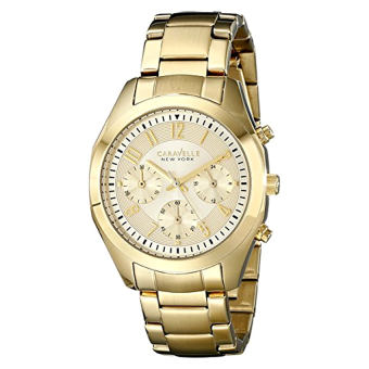 Harga Caravelle New York Women's 44L118 Gold-Tone Stainless Steel Watch - Intl