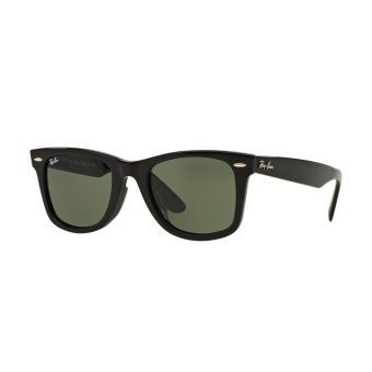 Harga Ray-Ban Sunglasses Wayfarer RB2140F - Black (901) Size 52 Crystal Green