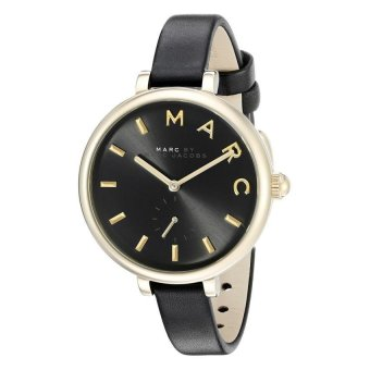 Harga Marc Jacobs MJ1416 Sally Black Dial Black Leather Quartz Ladies Watch