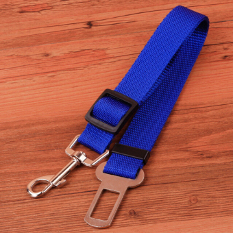 Harga A dog retractable seat belt pet car seat belt(blue)