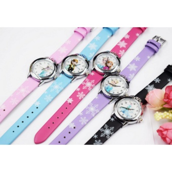 Harga 2Cool Kids Watch for Girls Cartoon Lovely Ice Snow Princess Watch for Children - intl