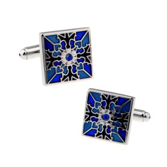 Harga Classical New Pattern crystal cufflinks