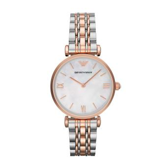 Harga Emporio Armani Watch Classic Multicolored Stainless-Steel Case Two-Tone-Stainless-Steel Bracelet Ladies Swiss NWT + Warranty AR1683
