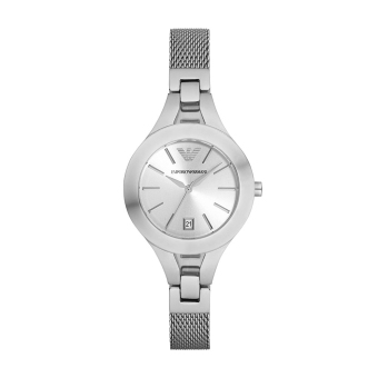 Harga Emporio Armani Chiara Silver Dial Stainless Steel Ladies Watch AR7401