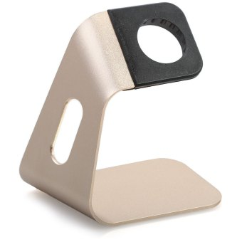 Harga Simple Aluminium Charging Stand Holder for Apple Watch (GOLD)