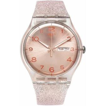 Harga Swatch Pink Glistar SUOK703 Analog Gent Watch