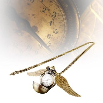 Harry Potter Snitch Watches Necklaces Steampunk Quidditch Pocket Pendant gold - intl