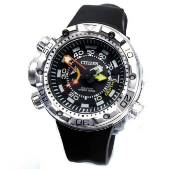 Harga Citizen Watch Eco-Drive Promaster Aqualand Black Stainless-Steel Case Rubber Strap Mens Japan NWT + Warranty BN2021-03E