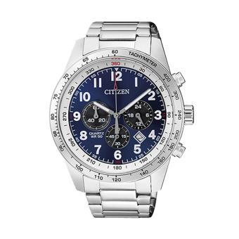 Harga Citizen Watch Chronograph Silver Stainless-Steel Case Stainless-Steel Bracelet Mens Japan NWT + Warranty AN8160-52L
