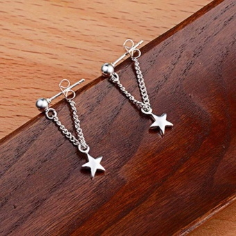Kuhong Fashion Fine Five-pointed star Earrings - intl - 3