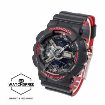 Casio G-Shock Black & Red Series Special Color Models Black Resin Watch GA110HR-1A - 2