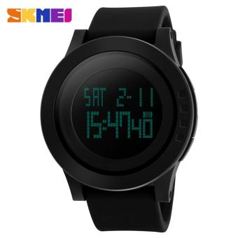 Harga SKMEI Large Dial Outdoor Men's Sports Watches LED Digital Watches Waterproof Alarm Chrono Calendar Watches 1142 - intl