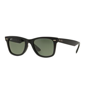 Harga Ray-Ban Sunglasses Wayfarer RB2140F - Matte Black (901S) Size 54 Crystal Green