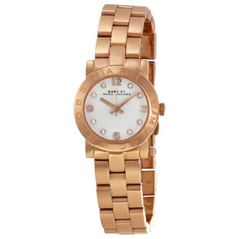 Harga Marc Jacobs MBM3078 Mini Amy White Dial Rose Gold-tone Stainless Steel Ladies Watch