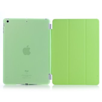 Harga Welink Detachable Tablet Smart Cover + Slim Transparent Back Case for Apple iPad Air 2 (Green) (Intl)