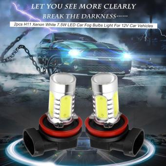 Harga ERA 2pcs H11 Xenon White 7.5W LED Car Fog Bulbs Light For 12V Car Vehicles