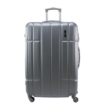 Harga 28inch 3.7kg Jean Francois Hard Case 4 Wheels Spinner Luggage JTH5926 ヨ Silver