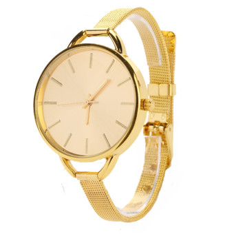 Harga Jo.In Fashion Luxury Gold Quartz Lady Women Wrist Watch (Gold)