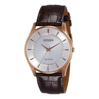 Harga Citizen Watch Eco-drive Brown Stainless-Steel Case Leather Strap Mens Japan NWT + Warranty BJ6483-01A