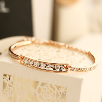 Harga Korean fashion diamond diamond crystal bracelet is studded with gold plated diamond female female bracelet bracelet H00006 - intl