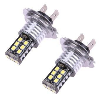 Harga 2pcs H7 Auto Leds For Cars 15SMD CANBUS Error Free 3535 LED Car Fog Lamp - intl