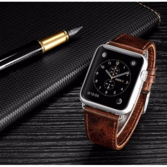 Harga Apple Watch band 42 mm Genuine Heritage Leather Strap - intl