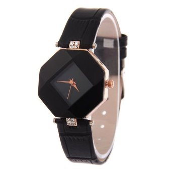 Harga Women Fashion Watch Diamond shaped watches (Black)