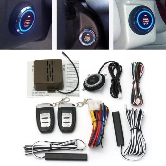 Harga 8x Car Alarm Start Security System Key Passive Keyless Entry Push Button Remote - intl