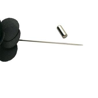Beautymall Flower Daisy Rose Handmade Men's Scarves Lapel Pin Everyday Brooch Black - intl - 3
