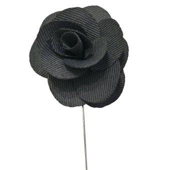 Beautymall Flower Daisy Rose Handmade Men's Scarves Lapel Pin Everyday Brooch Black - intl - 2