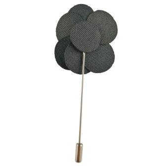 Beautymall Flower Daisy Rose Handmade Men's Scarves Lapel Pin Everyday Brooch Black - intl - 4