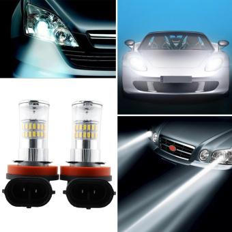 Harga 2x H11 48W Bright 48 LED Xenon Car Canbus Fog Light DRL White Lamp Bulbs - intl