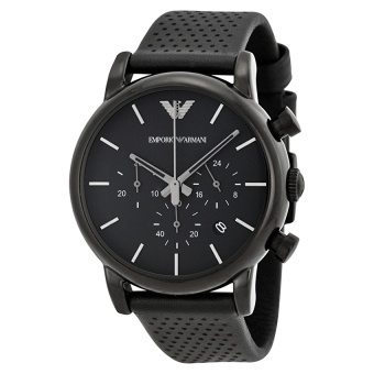 Harga Emporio Armani Men's Black Dial Black Leather Watch AR1737